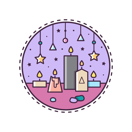 Candles Vector illustration.