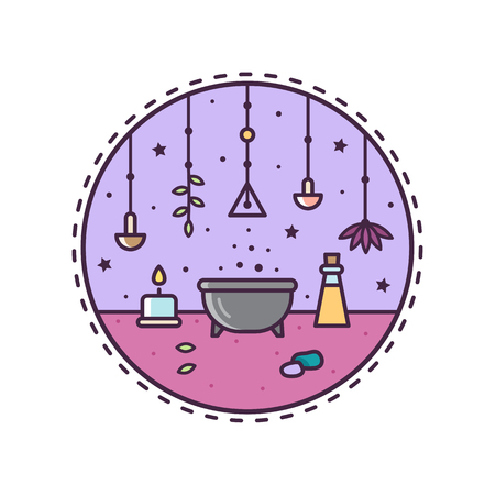 Circle icon. Potion. Vector illustration.
