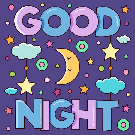 Good Night. Vector illustration.