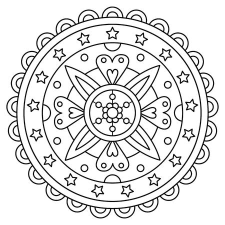 Mandala. Coloring page. Vector illustration. Illustration