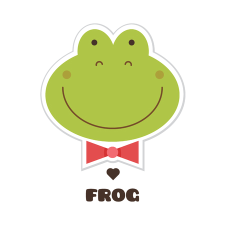 Frog vector illustration. Stock Illustratie