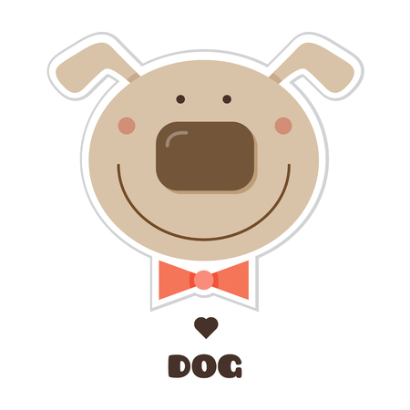 Dog. Vector illustration.