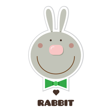 Rabbit. Vector illustration.