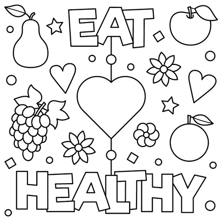Eat healthy concept and vegetables images illustration