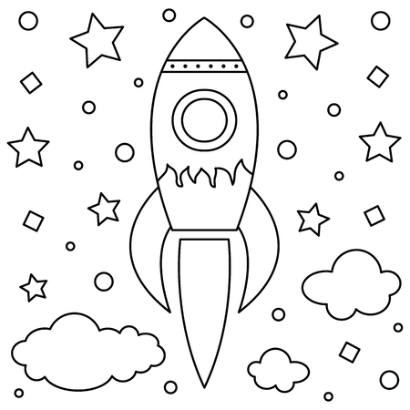 Sky rocket image outline illustration