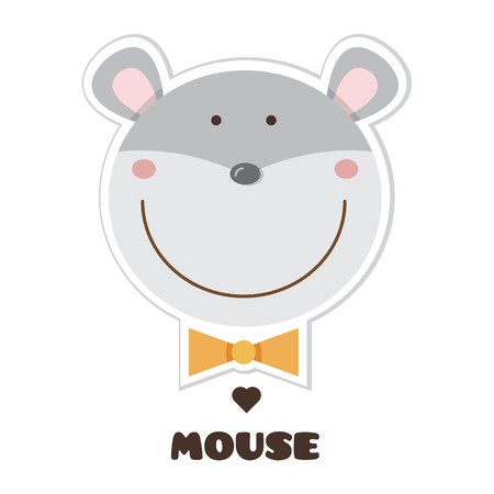 Cartoon mouse image illustration Stock Illustratie
