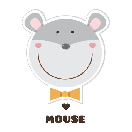 Cartoon mouse image illustration Vettoriali