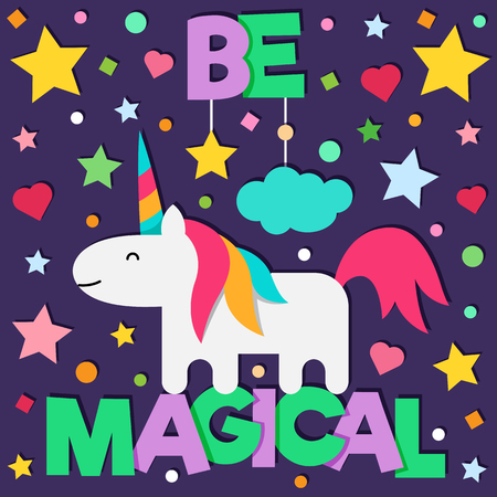 Be magical. Vector illustration. Иллюстрация