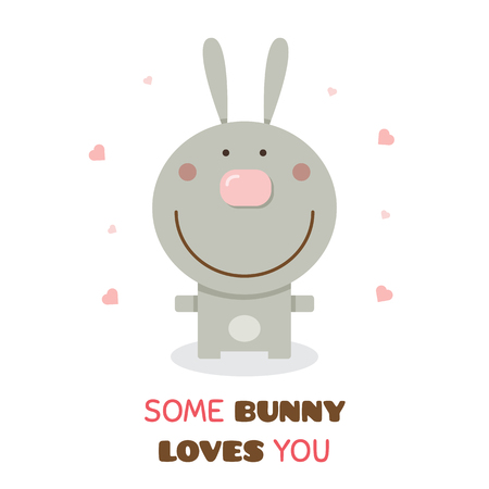 Some bunny loves you. Vector illustration. 向量圖像
