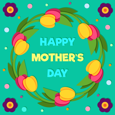 Happy Mothers Day. Vector illustration. Stok Fotoğraf - 98722400