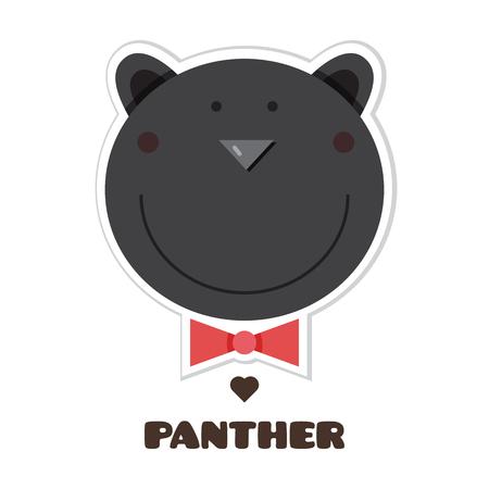 Panther  Sticker vector illustration.
