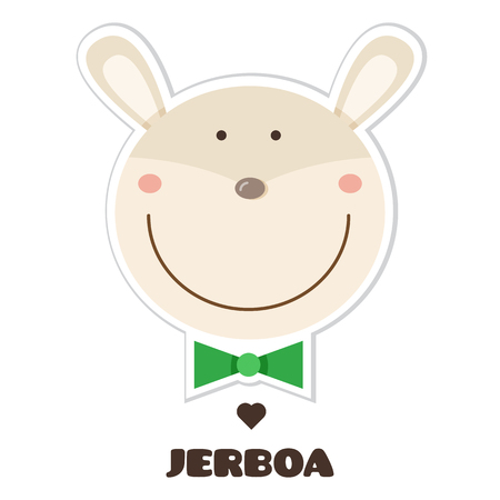 Jerboa Sticker vector illustration.