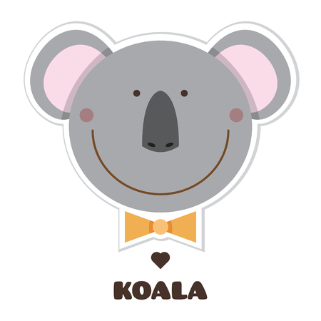 Koala Sticker vector illustration.
