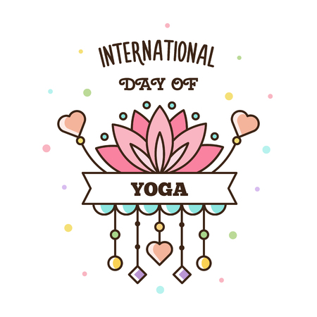 International Day of Yoga. Vector illustration.