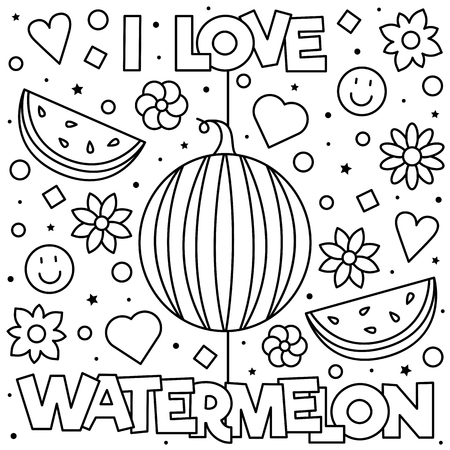 Coloring page. Vector illustration. Фото со стока - 103083156