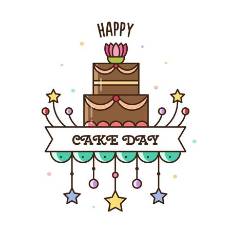 Happy Cake Day. Vector illustration. Illustration