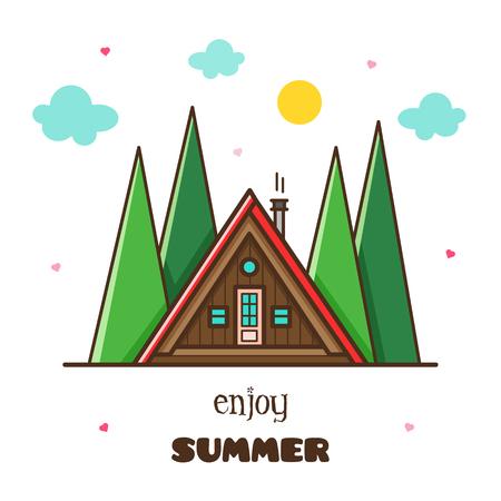 Enjoy summer. Vector illustration. 向量圖像