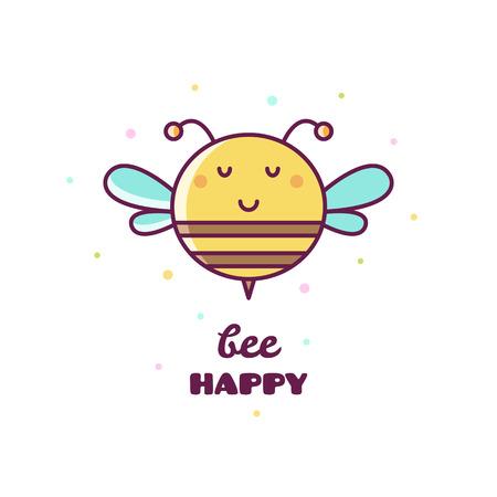 Bee. Vector illustration.