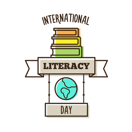 International literacy day. Vector illustration. Banque d'images - 104909965