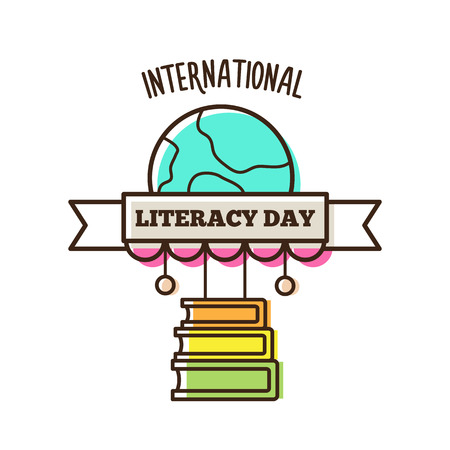 International literacy day. Vector illustration. 写真素材 - 104909967
