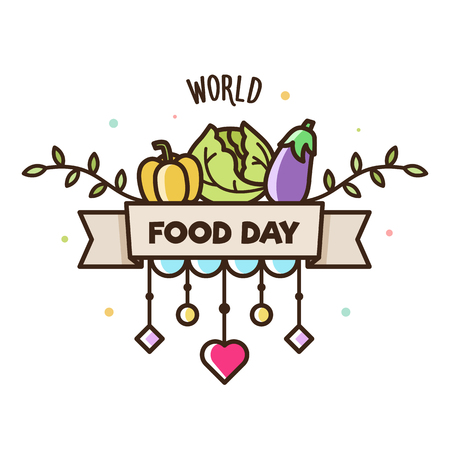 World Food Day. Vector illustration of vegetables