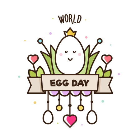 World Egg Day. Vector illustration of vegetables