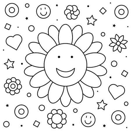 Coloring page. Black and white vector illustration