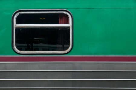 Old window of train