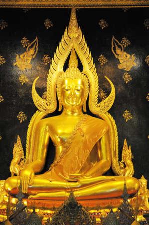 Phra Phuttha Chinnarat to be tha most beautiful Buddha portrait in Thailand Stock Photo
