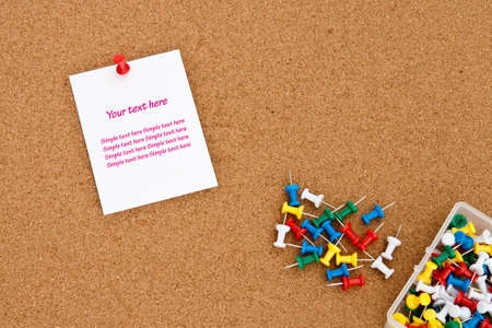 blank note on cork board with push pins Stock Photo - 8313439