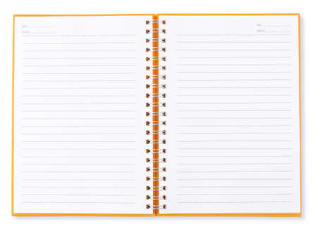 open blank page of note book
