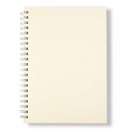 white cover of close note book on white background