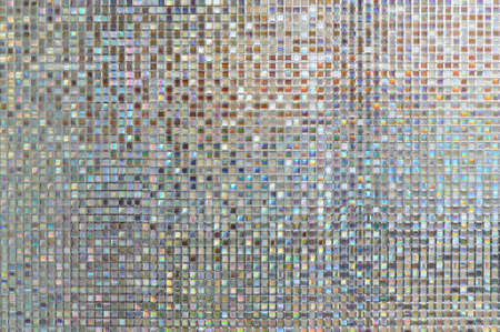mosaic pattern: reflections from the glass to be colorful