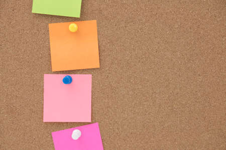 close up blank note on cork board Stock Photo