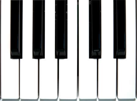 Closeup of Piano key photo