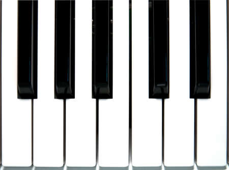 Closeup of Piano key Stock Photo