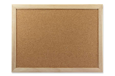 Memo Cork Board Isolate On White Background Stock Photo