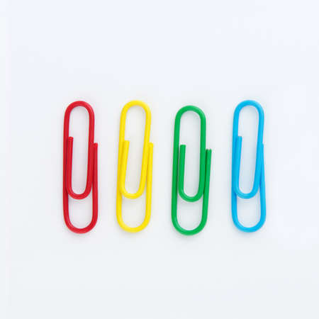 Set of Colorful paperclip isolated on white background