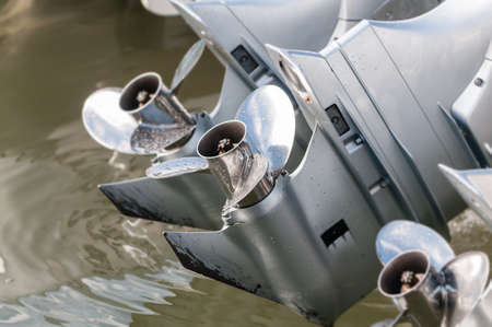 propeller On speedboat Stock Photo