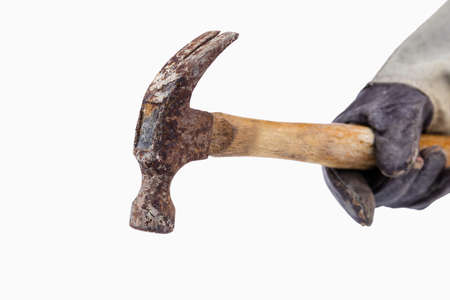 hammer head: Old hammer head on white background