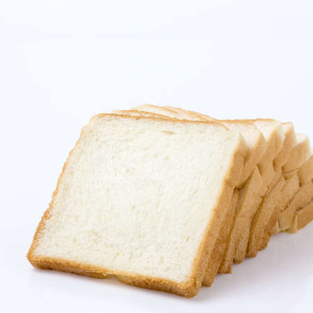 Bread Slice on White Background Stock Photo