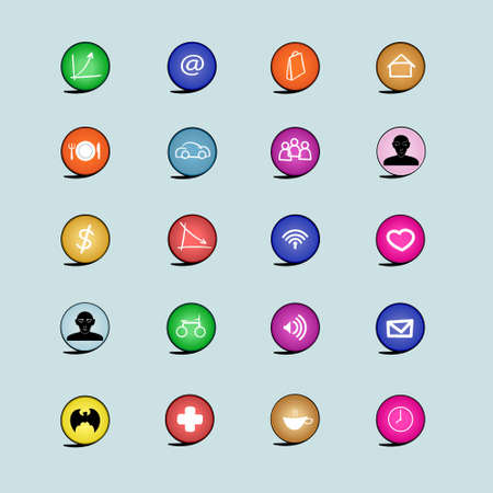 icon set include bisiness communication  people and media icon
