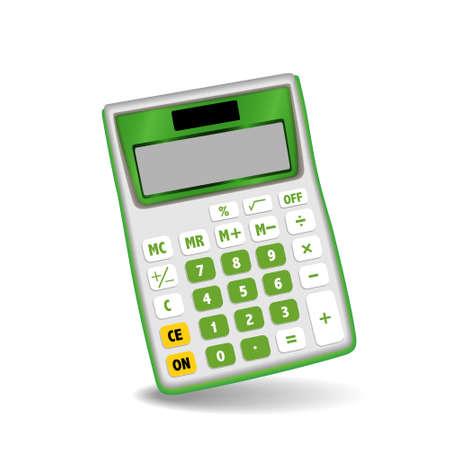 Calculator isolated on white background Illustration