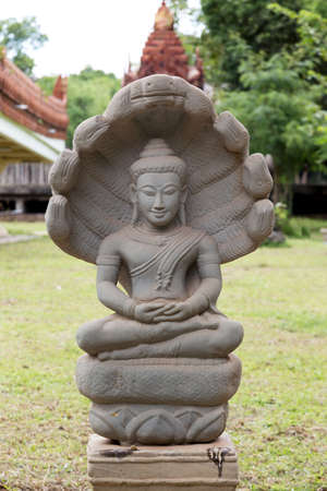 Statue Buddha decorate in Temple Thailand Stock Photo