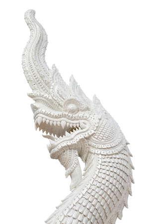 Head naka statue isolated on white background