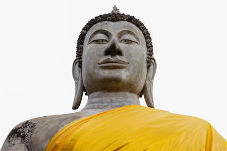 Buddha statue isoleted on white background