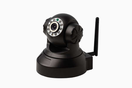 Internet security camera isolated on white background