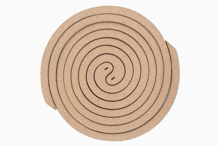 Mosquito coil isolated on white background Stock Photo