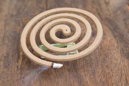 Burning mosquito coil for Insect repellent and mosquitoes Stock Photo