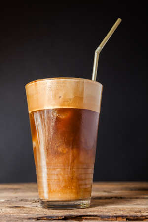 fredo: Refreshing cold frappe coffee  Stock Photo